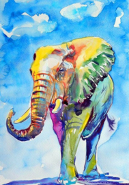 Diamond Painting ELEPHANT 40 x 50 cm
