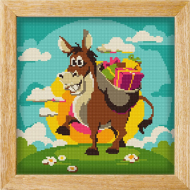 Diamond painting MANDALA FUNNY ANIMALS DONKEYS GIFTS
