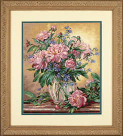 PEONIES AND CANTERBURY BELLS - Dimensions (GOLD collection)