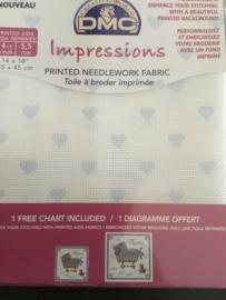 DMC Impressions Aida met patroon (14 count) 35 x 45 cm