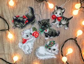 Borduurpakket LETI 987 Christmas Kittens Toys