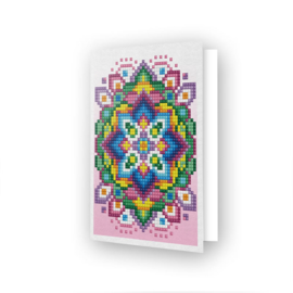 DIAMOND DOTZ GREETING CARD PINK STAR - NEEDLEART WORLD