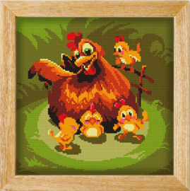 Diamond painting MANDALA FUNNY ANIMALS UNDER MOTHERS WINGS