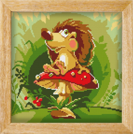 Diamond painting MANDALA FUNNY ANIMALS HEDGEHOG THINKER