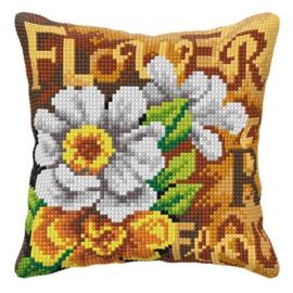 KRUISSTEEK KUSSEN ORCHIDEA - FLOWER