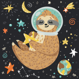 DIAMOND DOTZ SLOTH UNIVERSE - NEEDLEART WORLD - OP CANVAS