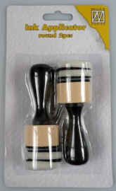 Nellies Choice Ink applicator round (2 appl. + 4 foam) IAP003