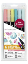 Tombow ABT dubbele brushpen 6st set Candy ABT-6P-4