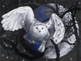 DIAMOND PAINTING FLYING OWL - FREYJA CRYSTAL