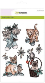 CraftEmotions clearstamps A5 - CHRISTMAS PETS 2