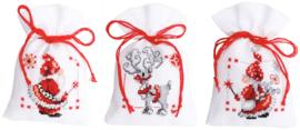 Kruiden of snoepzakjes kerstfiguren (set van 3) PN-0150688