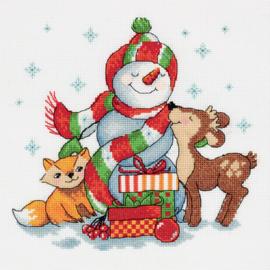 BORDUURPAKKET SNOWMAN WITH GIFTS - PANNA