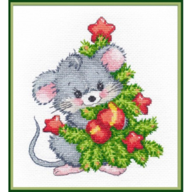 MOUSE WITH CHRISTMAS TREE S1247 - OVEN