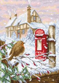 CHRISTMAS RED MAILBOX (aida)