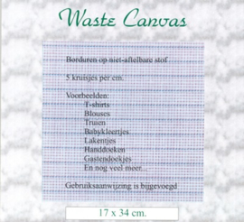 WASTE CANVAS ± 17X34 CM