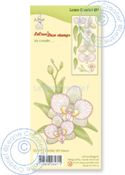 Leane Creatief - Clear stamp Orchid 3D flower