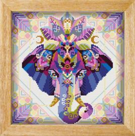 Diamond painting MANDALA Dieren OLIFANT (HOOFD)