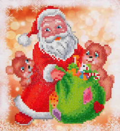 DIAMOND DOTZ SANTA & TEDDIES - NEEDLEART WORLD