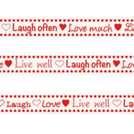 Marianne D Tekst ribbon Live, laugh, love JU0877