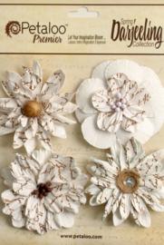 Petaloo • Wild blossom white - Papieren bloemen  (4 stuks)