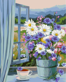 Wizardi Paint-By-Numbers Altai Bouquet