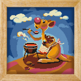 Diamond painting MANDALA FUNNY ANIMALS COOK KANGEROO