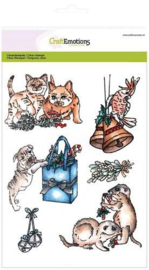CraftEmotions clearstamps A5 - CHRISTMAS PETS 3