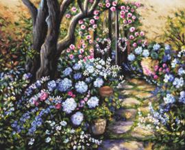 Borduurpakket LETI 982 Wonderland Garden