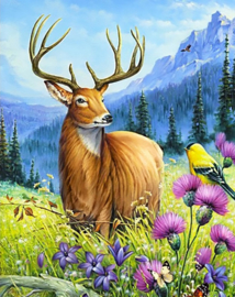 DIAMOND PAINTING NOBLE DEER WD2496 38 x 48cm