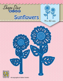Nellie Snellen Shape Die BLUE Sunflowers