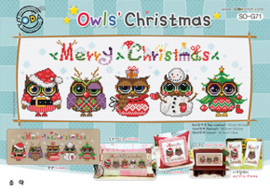 BORDUURPAKKET OWLS' CHRISTMAS  - TSC