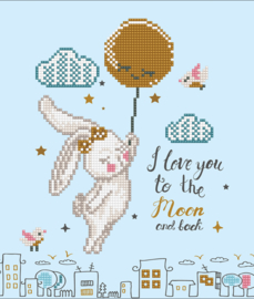 DIAMOND DOTZ LOVE YOU TO THE MOON & BACK - NEEDLEART WORLD