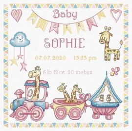 Borduurpakket LETI 935 Baby girl Record