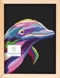 Borduurpakket Colourful DOLFIJN