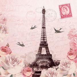 Ambiënte servetten 5st - Letter to Paris 33x33cm