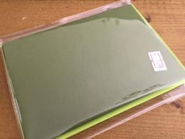 Kerstgroene kaart met envelop 5stuks. 10,5x15cm.
