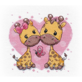 GIRAFFES IN LOVE S1275 - OVEN