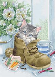 Borduurpakket Luca-S 2391 Cute Kitten