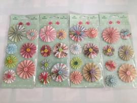 Bloemenstickers DIY 4 verschillende soorten
