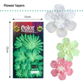 Petaloo • Flower layers Shamrock - Papieren bloemblaadjes  (12 stuks)