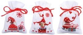 Kruiden of snoepzakjes kerstfiguren (set van 3) PN-0165994