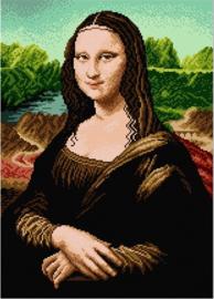 Voorbedrukt stramien after Leonardo da Vinci - MONA LISA - ORCHIDEA 40 x 50
