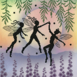 BORDUURPAKKET LAVINA STAMPS' FAIRIES - FAIRY DANCE - BOTHY THREADS