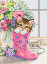 Borduurpakket Luca-S 2390 Pretty Kitten