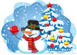KERSTKAART: CHRISTMAS SNOWMAN