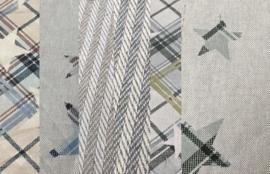 Set van 6 lapjes stof 25 x 27.5  100% katoen. LINNENLOOK