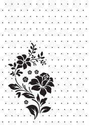 Embossing folder Nellie's Choice rose ornament