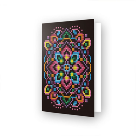 DIAMOND DOTZ GREETING CARD BLACK STAR - NEEDLEART WORLD