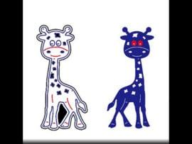 Snijmal giraf