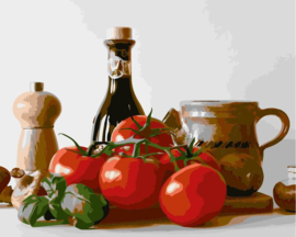 Wizardi Paint-By-Numbers Italian Food